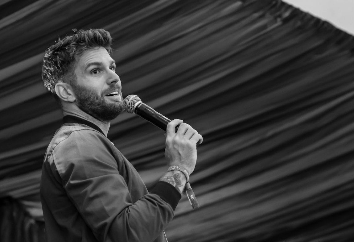 Joel Dommett, Live entertainment photographer, stand up comedy photographer,