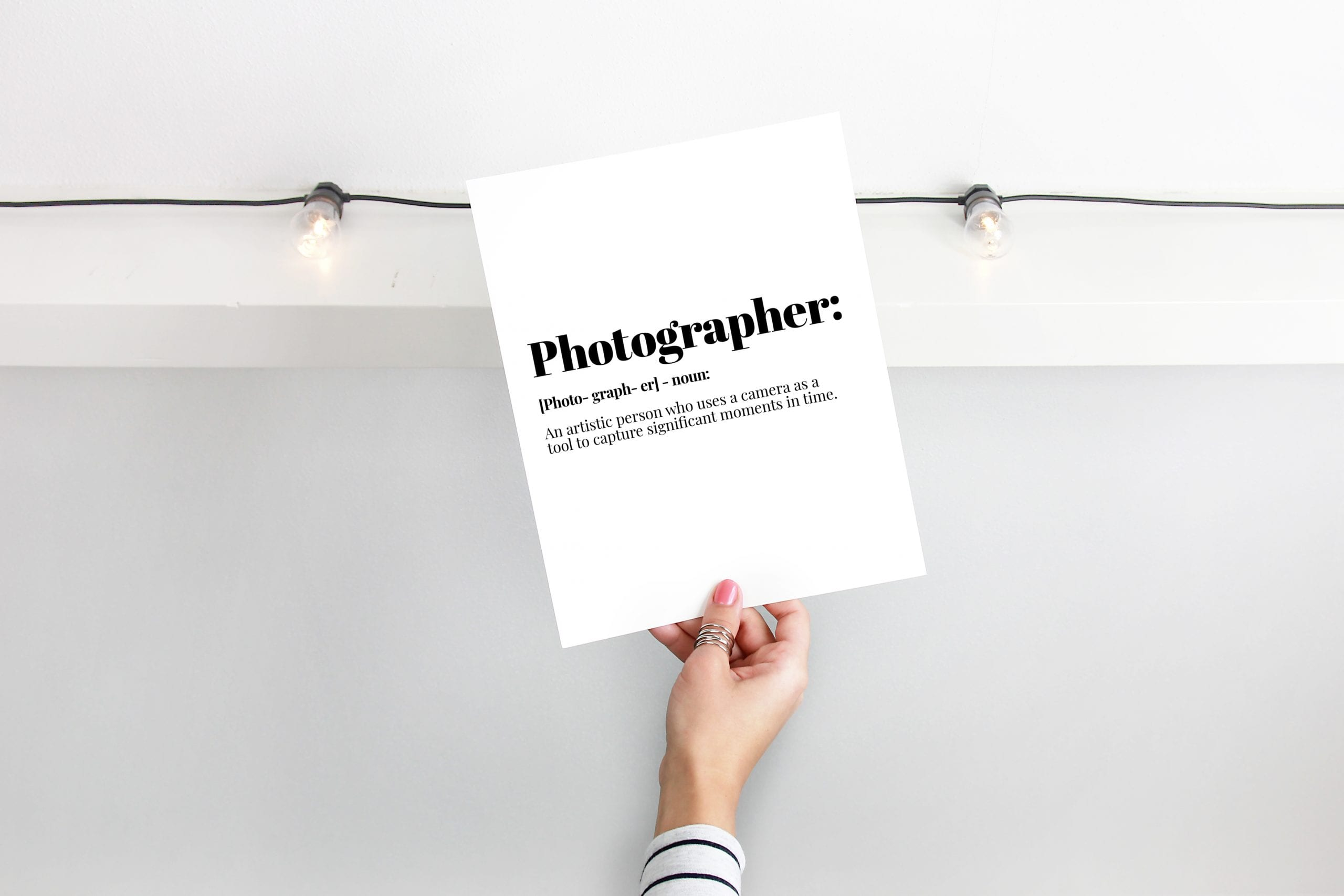 photographer definition print, Photographer gift, motivational print