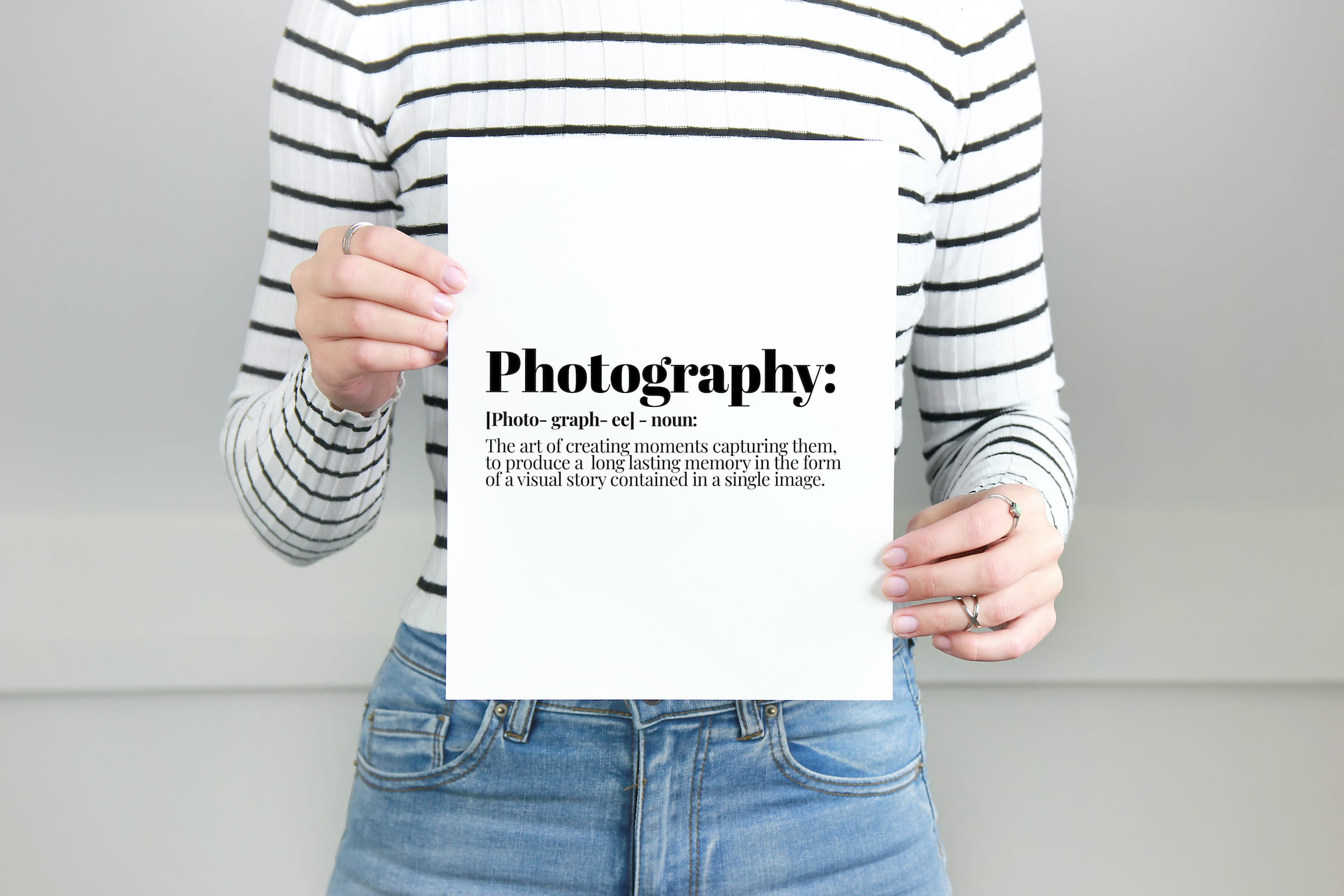 photography definition, Photographer gift, motivational print